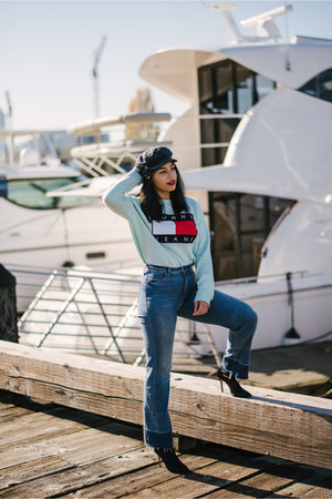 Tommy Hilfiger sweatshirt - tony bianco boots - MOTHER Denim jeans