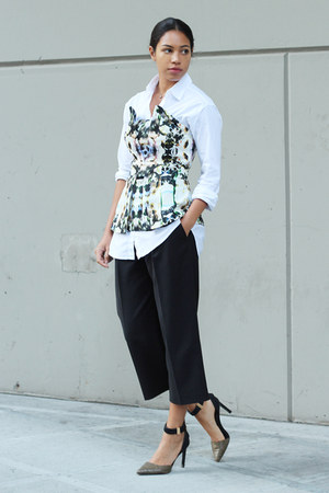 Finders Keepers top - madewell shirt - French Connection pants