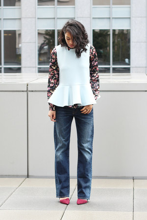 Cameo the label top - Aritzia shirt - banana republic pumps