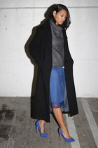 vintage skirt - Anne Klein coat - Aritzia sweater - Dolce Vita pumps