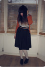 Off-white-cotton-h-m-tights-black-shiny-brogues-clarks-shoes-black-h-m-skirt