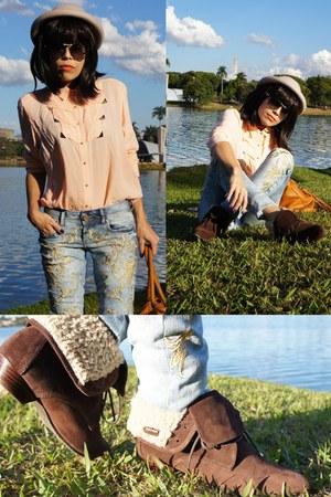 peach Colcci blouse