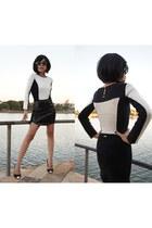 black black and white BoBo bodysuit