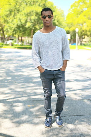 off white American Apparel sweater