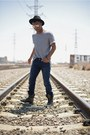 Distressed-asos-boots-true-religion-jeans-fedora-target-hat