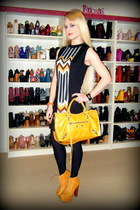 black stripe missoni for target dress - mustard lita Jeffrey Campbell boots