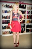 black vamp Black Milk swimwear - ruby red Chanel bag