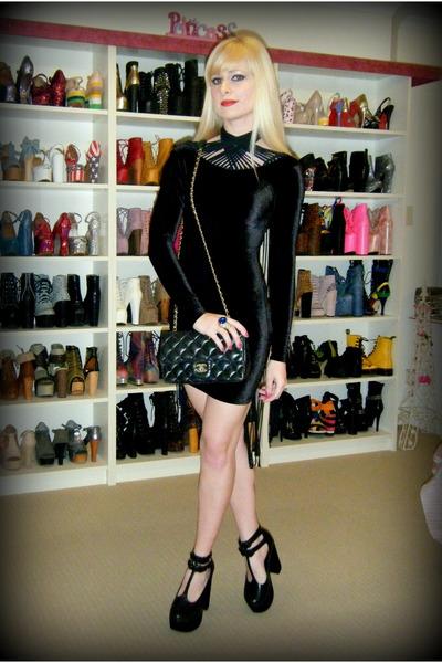 Black Wednesday Milk Dress Vintage Chanel Bag