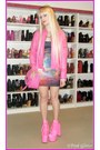 Pink-hellbound-unif-boots-purple-rainbow-galaxy-black-milk-dress