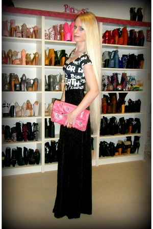 black Black Milk bodysuit - pink balenciaga bag