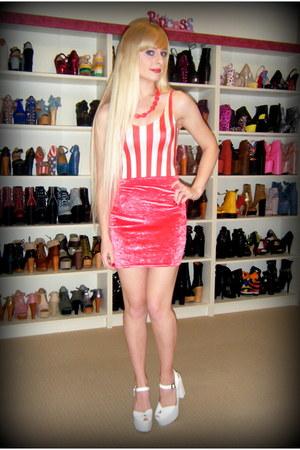 red red stripe Black Milk bodysuit
