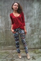 Zara pants - asos boots - Zara t-shirt