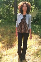 new look jacket - Pimkie pants - Zara vest - Jeffrey Campbell heels
