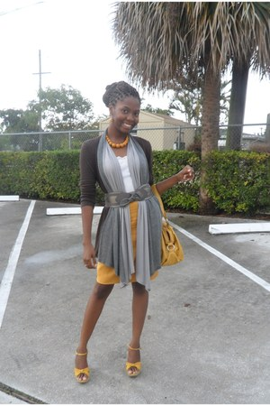 unknown brand bag - Target top - Forever 21 cardigan - skirt - belt