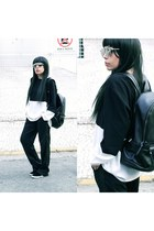 bag - sunglasses - pants - sneakers - blouse