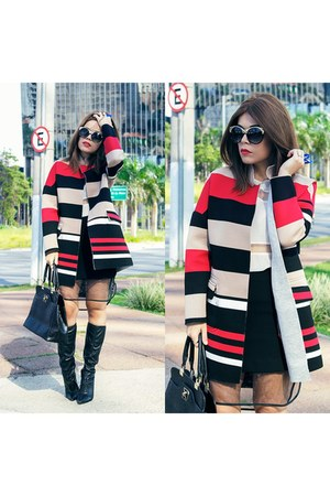 coat - sunglasses - skirt