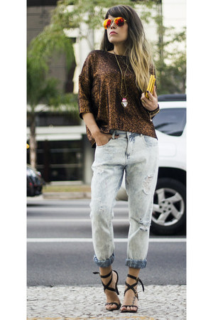 periwinkle Boyfriend jeans jeans - brown YOUCOM sweater