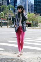 jacket - heels - pants - t-shirt