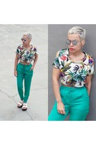 shoes - sunglasses - top - pants