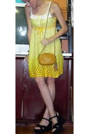 fresh Baterfliy dress - bag - sandals