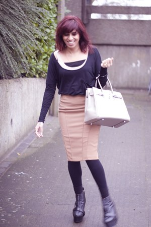 acne boots - asos skirt - asos top