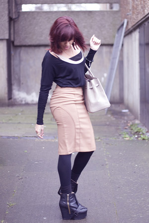 acne boots - Hermes bag - asos top - asos skirt - thomas sabo bracelet - JEWEL H