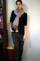 thrifted scarf - Ron et Normand blazer - thifted pants - Old Navy sweater