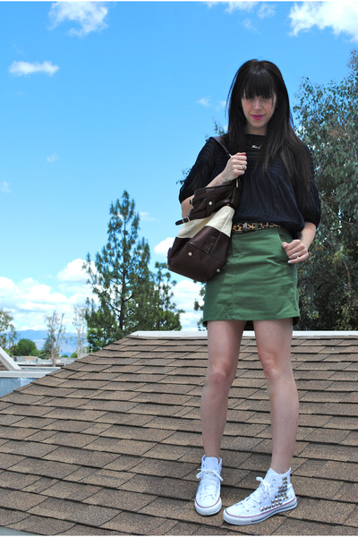 Rebecca Minkoff bag - Converse sneakers - volcom skirt
