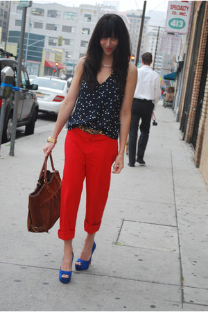 J Crew pants - Christian Louboutin pumps
