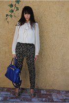 f21 pants - seychelles shoes - Michael Kors bag - banana republic top