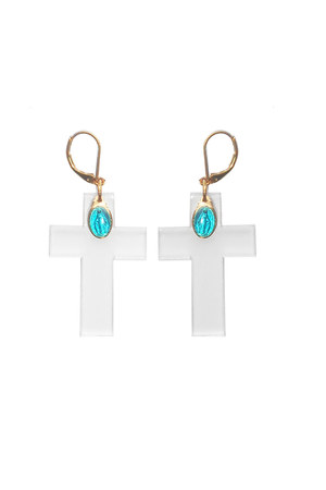 Justine Clenquet on Puloma earrings