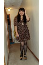 Forever21 dress - asos bag - Target clogs - thrifted vintage necklace - vintage