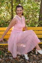 Sacs Fifth Avenue dress - leg avenue stockings - Blowfish heels