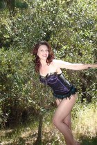 Deborah Lindquist bodysuit - leg avenue stockings