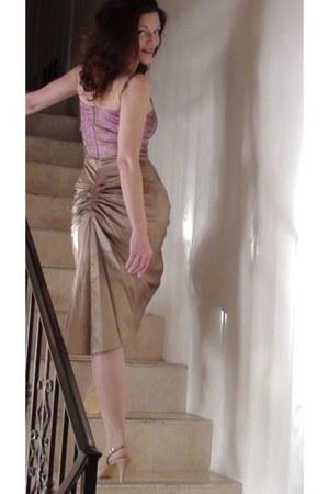 Vintage Cocktail Dress dress - nude back seam leg avenue stockings