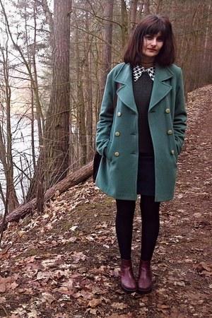 teal New&Vintage shop coat