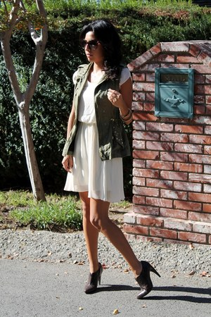 Zara vest - sam edelman boots - Nordstrom dress