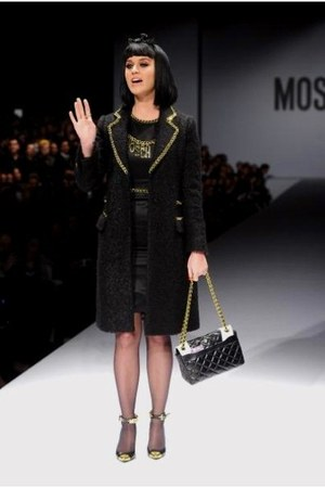 black and gold Moschino dress - black and gold Moschino coat