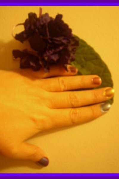 violet brooch DIY accessories