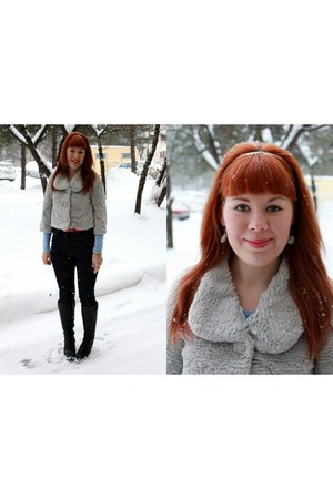 periwinkle faux fur Ellos jacket