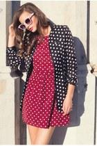 black Pynk Nylon blazer - brick red Pynk Nylon dress