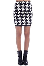 Knited skirt with star print