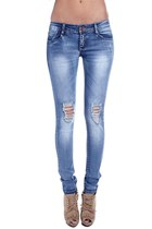 Super skinny jeans with low-rise waist