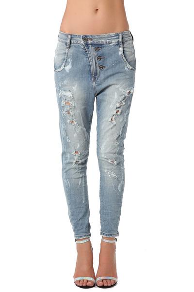q2 jeans boyfriend jean with subtle paint splatter design by q2 chictopia. Black Bedroom Furniture Sets. Home Design Ideas