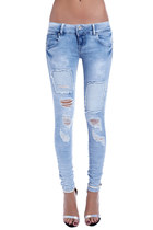 Super skinny jeans with patch detail
