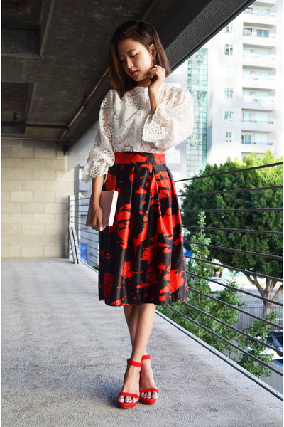midi skirt Sheinside skirt