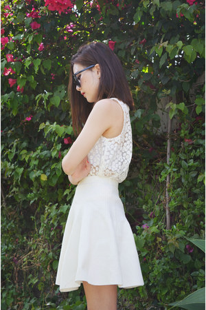 skater skirt VeryHoney skirt - lace top Sheinside top - heels heels heels