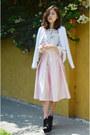 White-jacket-cndirect-jacket-midi-skirt-q2han-skirt