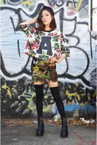 hat Supreme hat - WeQueen shirt - patch skirt Q2HAN skirt