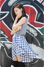 Band-shirt-fashionmia-shirt-jsimple-socks-chunky-heels-shoplately-heels